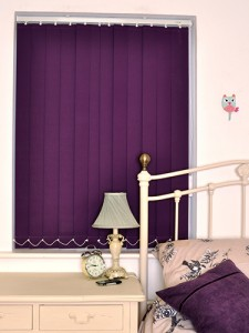 Cordoba Blackout Vertical Blinds in Purple