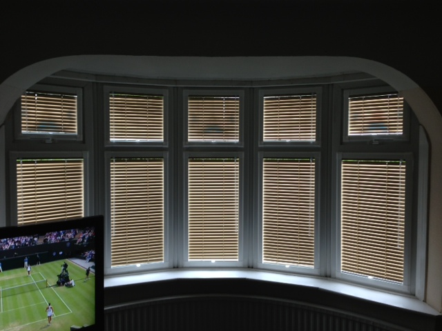 Roman Blinds Another Popular Option For Bay Window