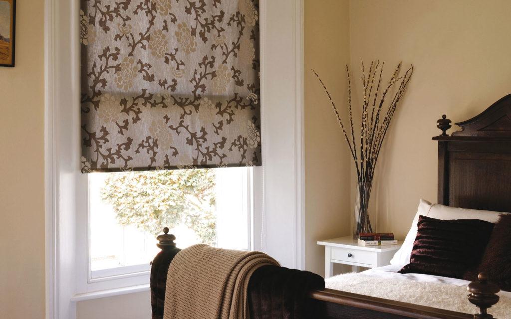 Bedroom roller blinds