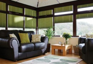 Pleated Blinds Fitted in a Conservatory by Expression Blinds
