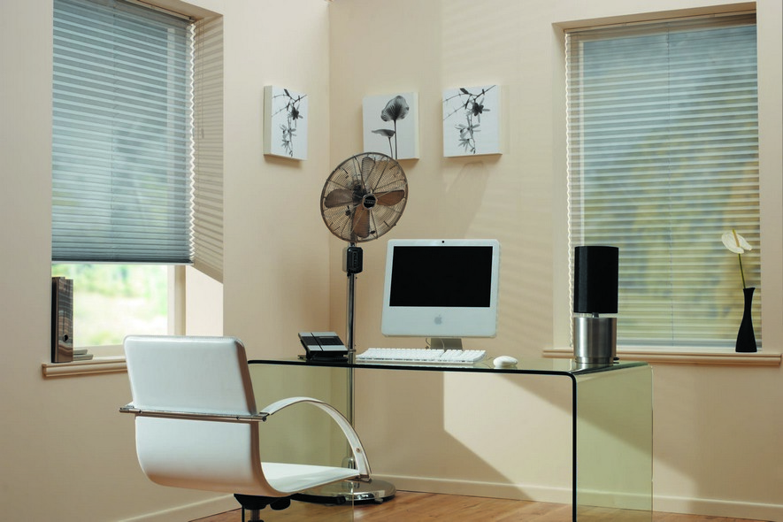 Pleated Aspect Grey Blinds