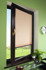 Perfect Fit Brown Pleated Blinds
