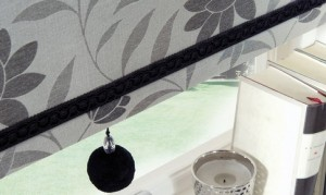 Roller Dahlia Charcoal Blinds