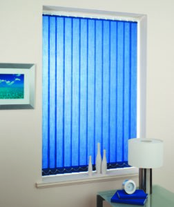Vertical ScreenTex Blue Blinds