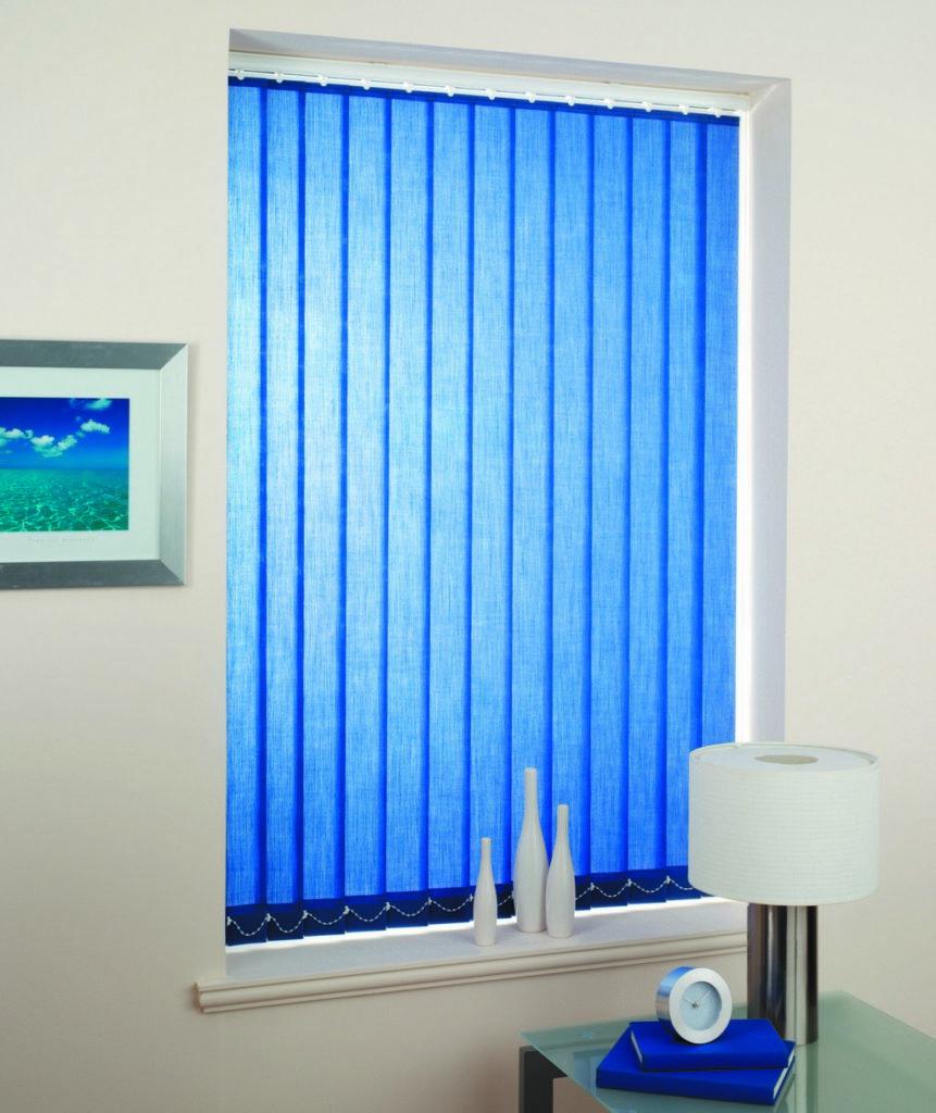 Vertical ScreenTex Blue Blinds