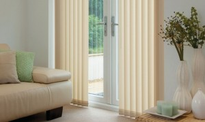 Vertical Regency Honey Blinds