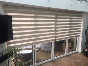 bi fold doors with vision roller blinds