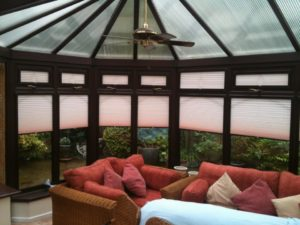 A conservatory fitted with perfect fit blinds