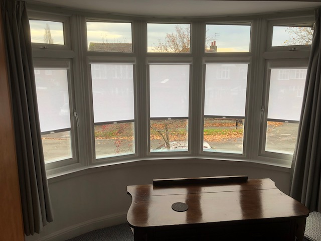 perfect fit blinds in a bay window in Liverpool
